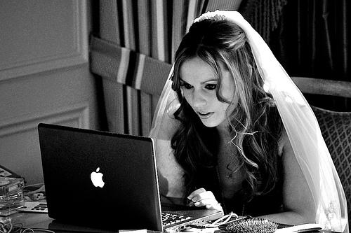 mariée ordinateur