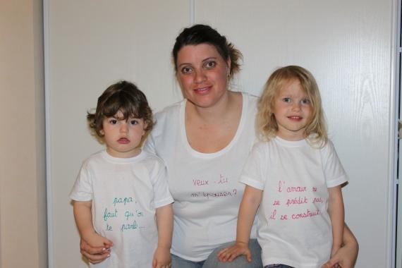 les enfants et moi après la demande