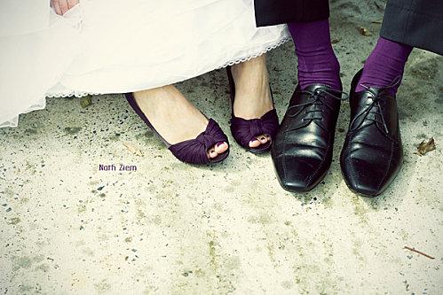 chaussures mariée violettes