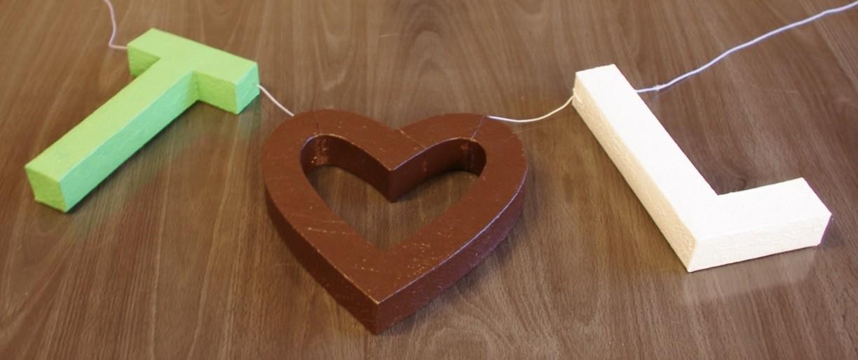 Déco mariage vert anis et chocolat