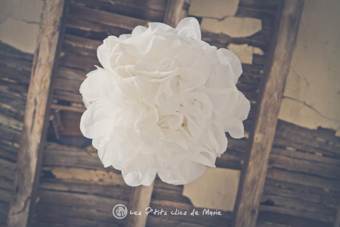 mariage bohème champêtre déco pompon