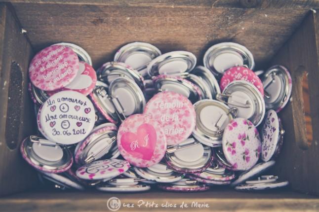 mariage bohème champêtre badges