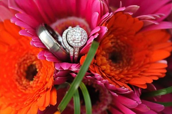 thème couleur mariage fuschia orange