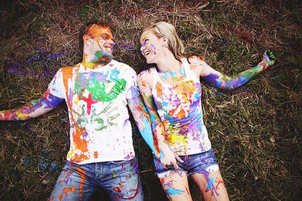 couple peinture