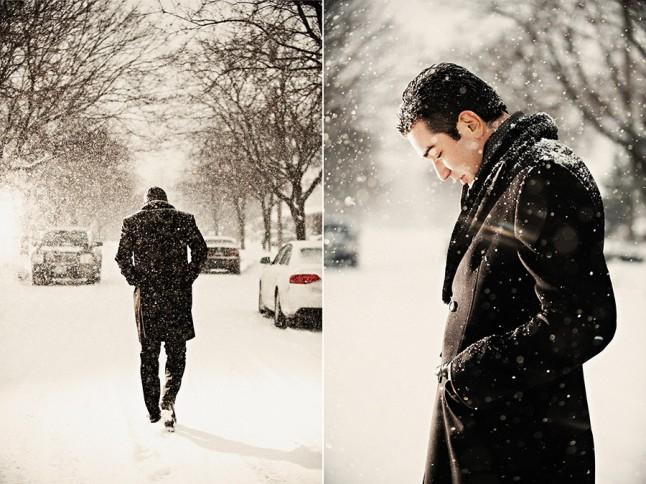 marié neige