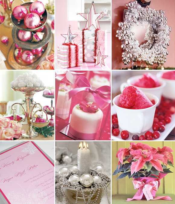 inspiration mariage rose argent