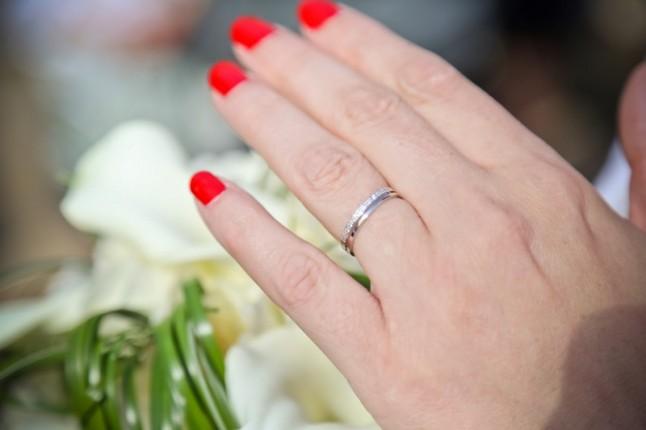 mariage rouge blanc alliance
