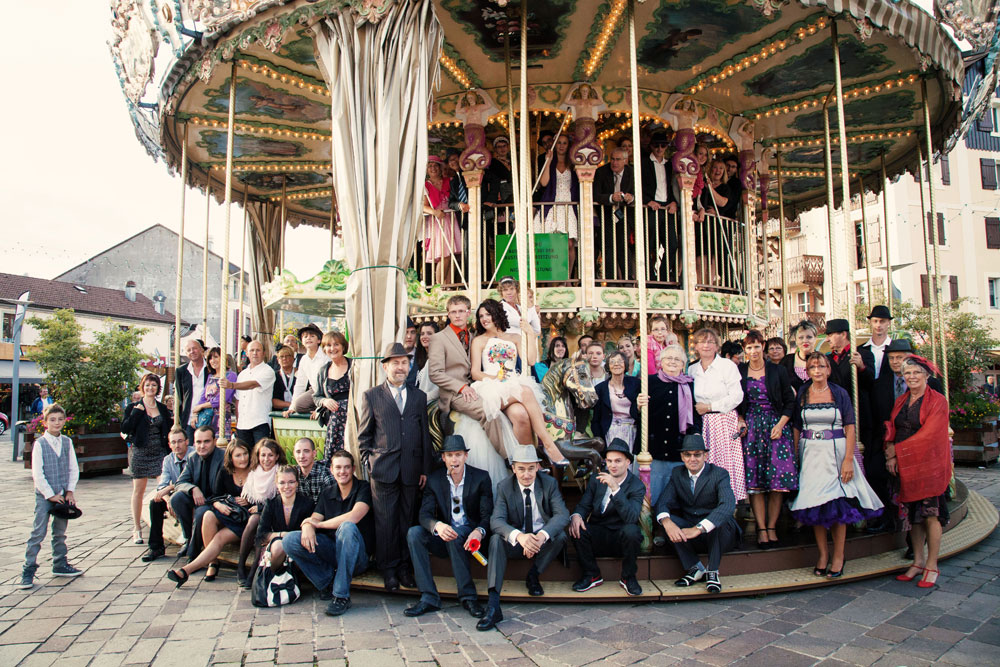 photo de groupe carrousel