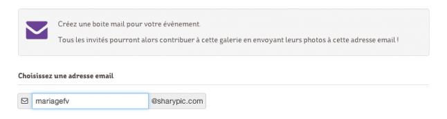 sharypic email personnalisé