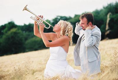 mariée trompette