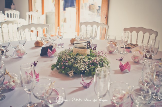 mariage champetre boheme shabby chic déco table