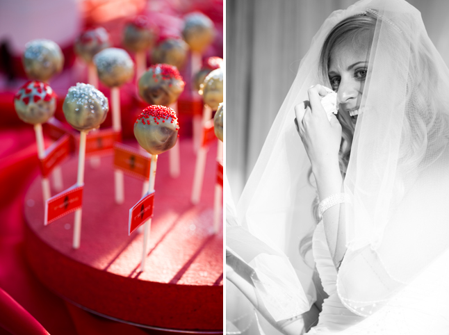 mariage rouge blanc buffet dessert cake pops