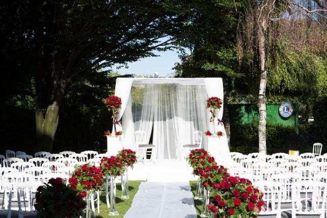 mariage rouge blanc lieu ceremonie