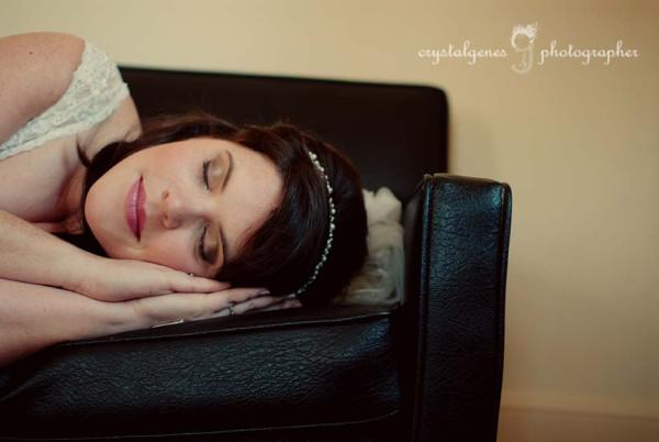 mariée endormie