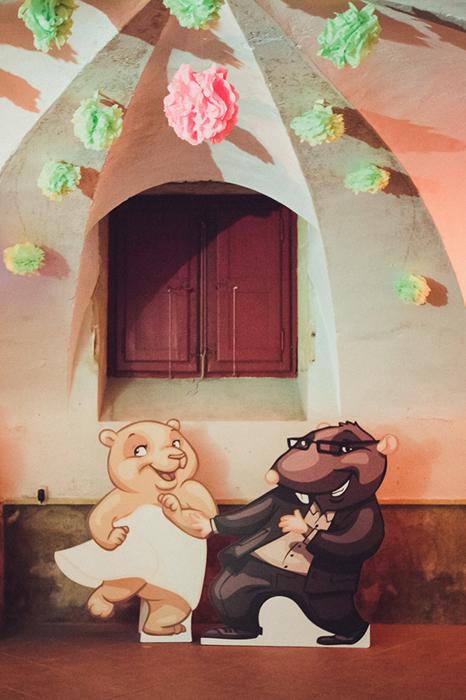 ours et taupe mariés