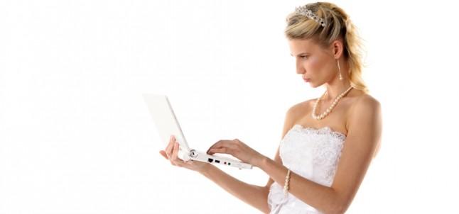 mariée ordinateur portable