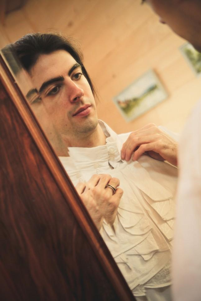 habillage M. Lutin : chemise à jabot plat