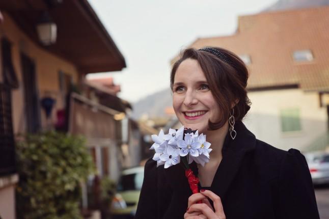 mariée bouquet en origami