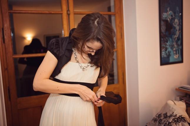 changement de tenue de la mariée