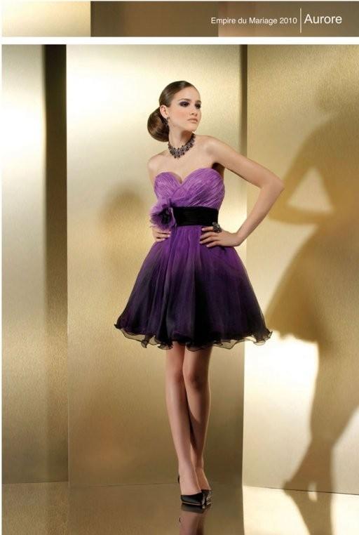 robe de mariée courte et colorée