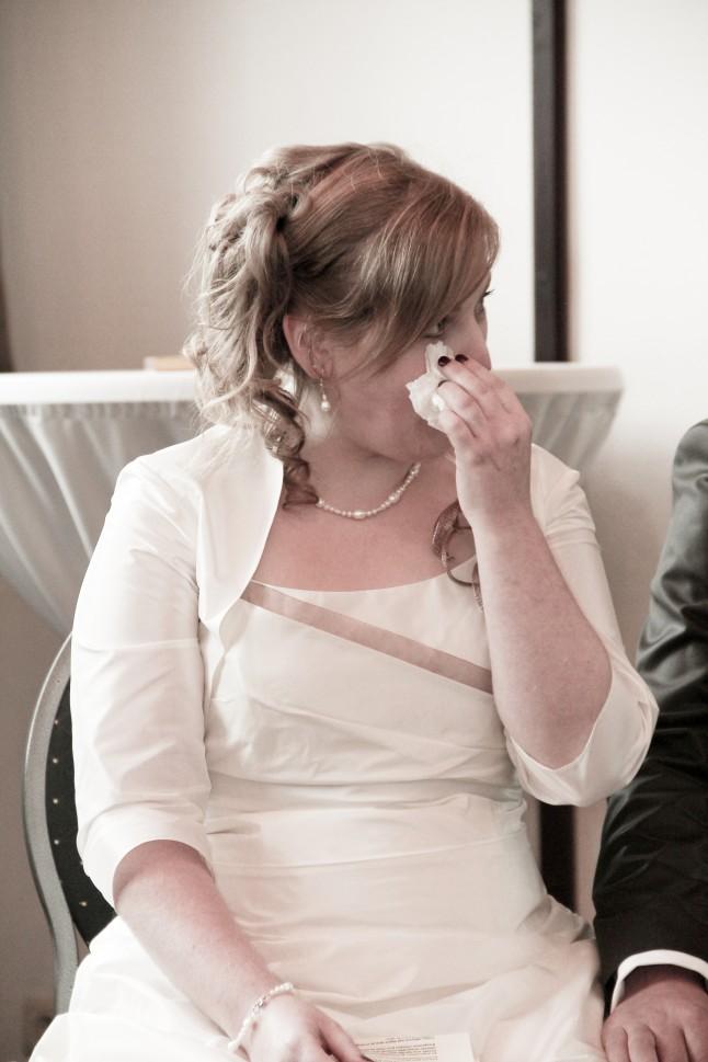 mariée qui pleure