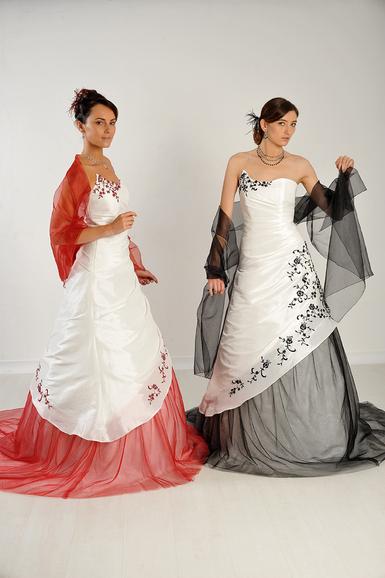 robes bicolores Mariages et Mariages, Valencia & Rafaela