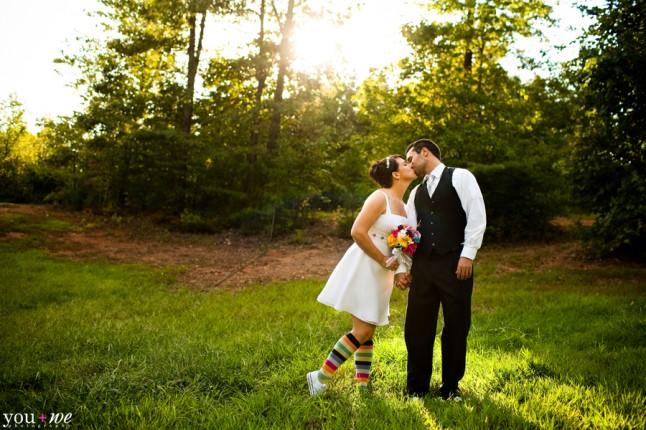 mariée chausettes colorées