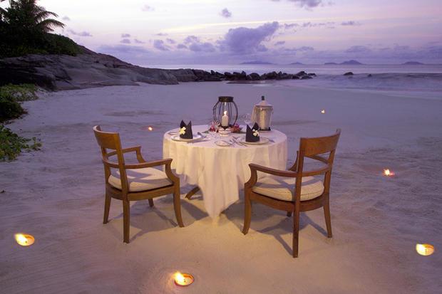 un diner romantique au bout du monde