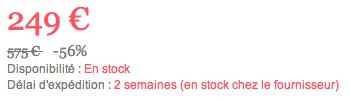 stock clairement indiqué