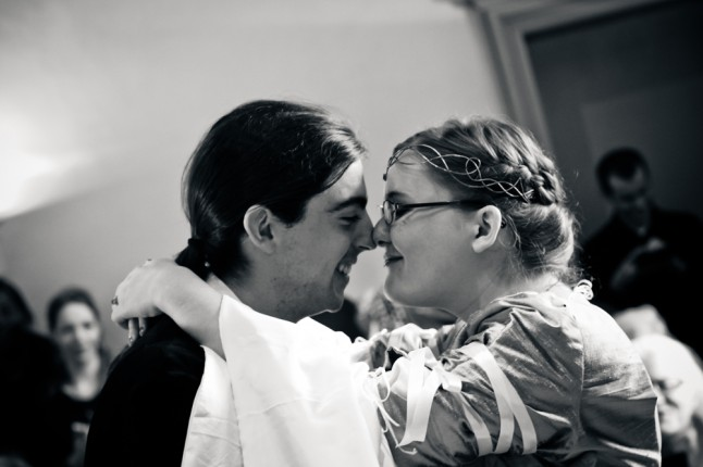 amoureux nez contre nez