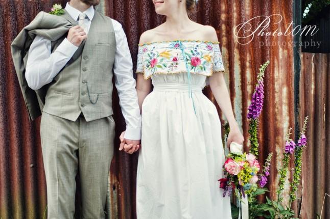 mariage champêtre robe personnalisée