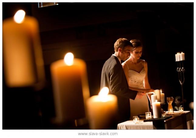 mariés bougies