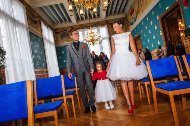 mariage paris péniche mairie robe courte