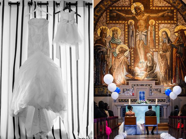 mariage paris péniche robe église
