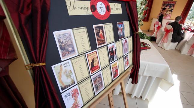 mariage theme cabaret années 20 plan de table