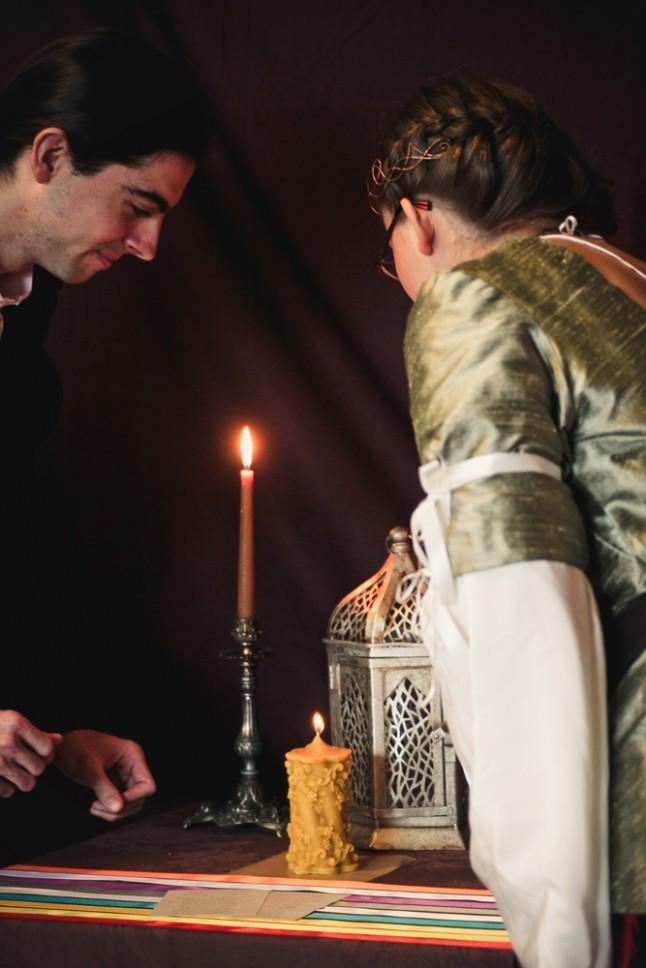 mariage médiéval-fantastique, rituel de la bougie d'union