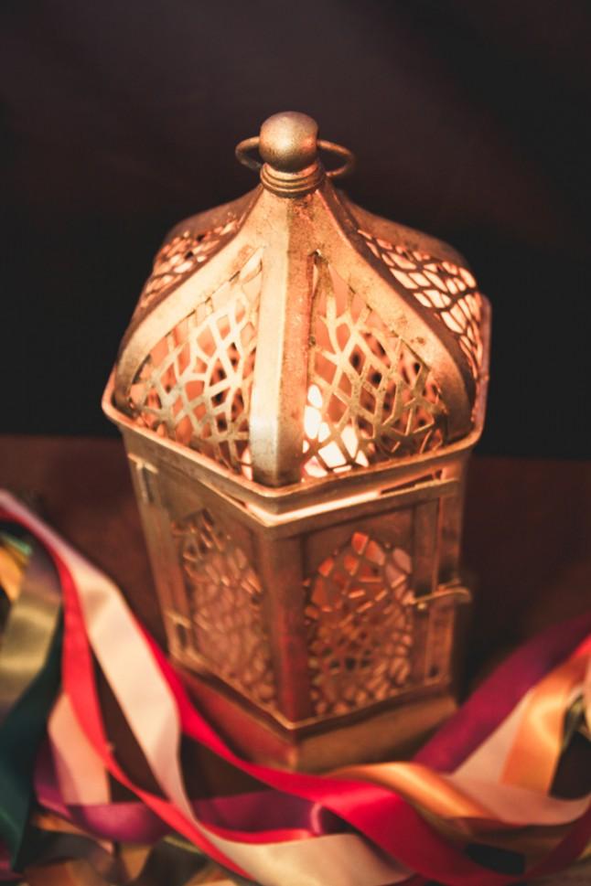 lanterne bougie d'union et rubans