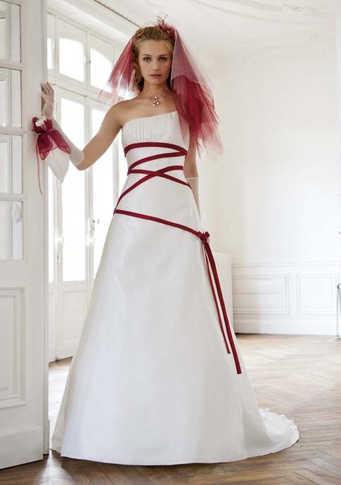 robe Ancolie à ruban rouge, Eglantine Créations