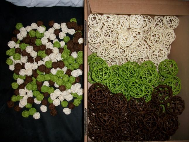 Boules osier ivoire anis chocolat