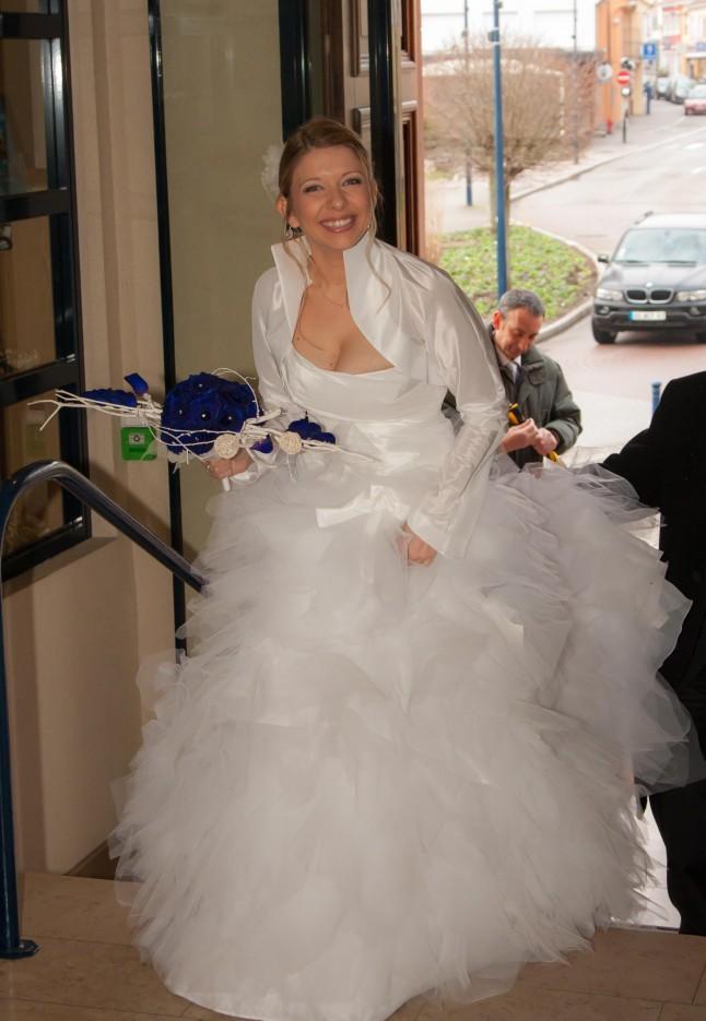 entrée de la mariée dans la mairie