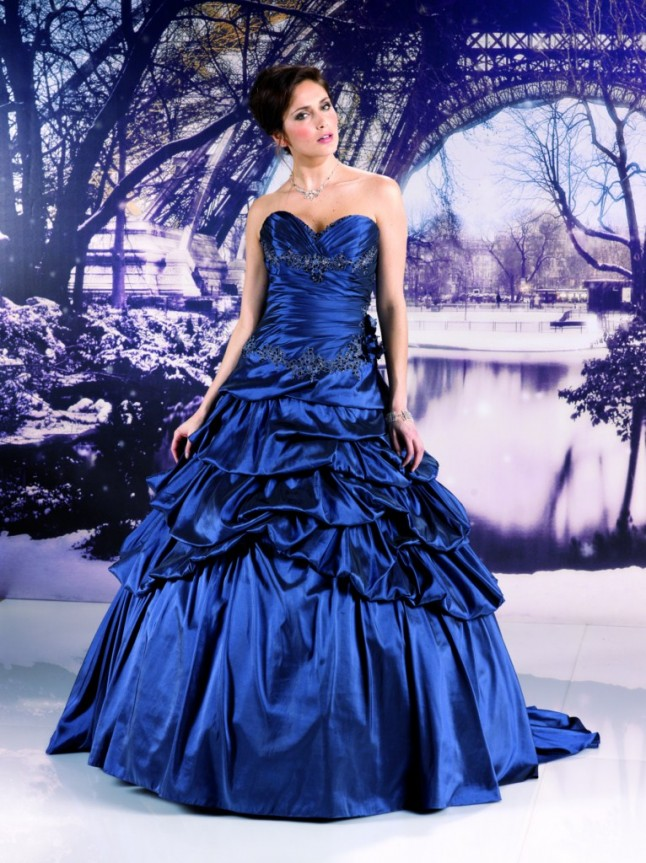 robe Miss Paris bleu roi