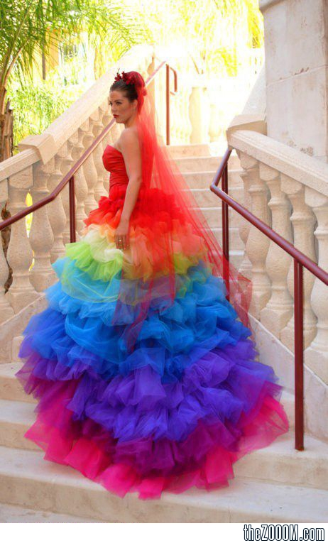 Rainbow-Wedding-Brides-Dress