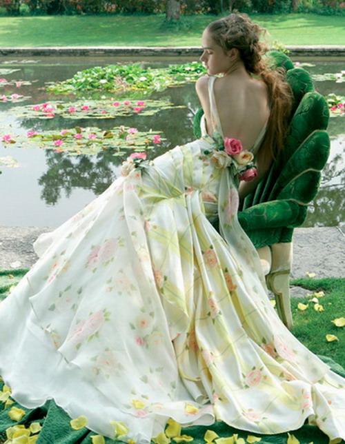 Robe imprimée rose et jaune Atelier Aimée