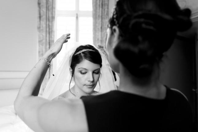 habillage de la mariée : le voile