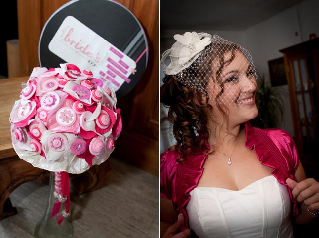 mariage pluie bouquet mariée