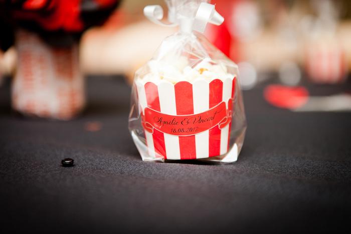 mariage rouge et noir cadeaux