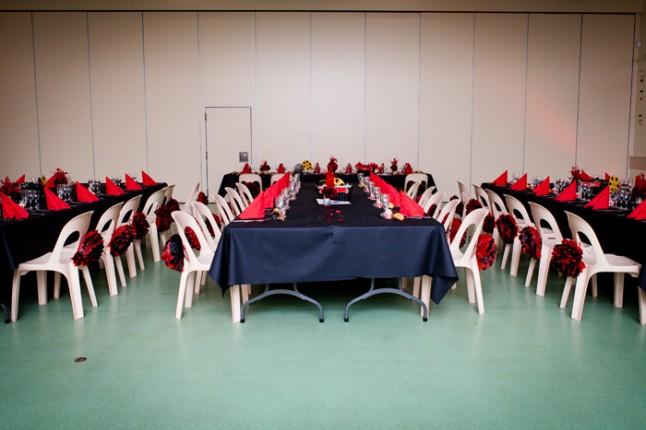 mariage rouge et noir déco table