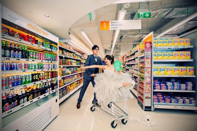 mariés supermarché