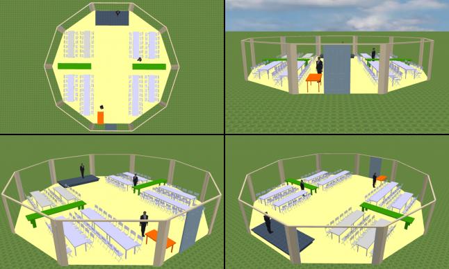 vue 3D agencement salle