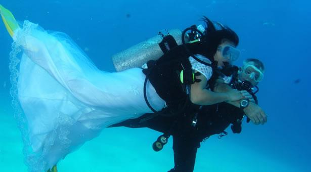 mriage sous l'eau